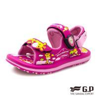 G.P 可愛長頸鹿兒童磁扣兩用涼拖鞋G9214BB-桃紅色(SIZE:24-30 共三色)