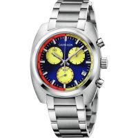 Calvin Klein CK Achieve 雅仕計時手錶-多色x銀/44mm K8W3714N