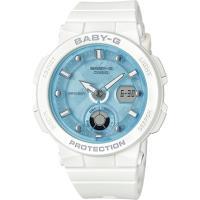 CASIO BABY-G 海水正藍指針數位雙顯女錶-白X水藍(BGA-250-7A1)