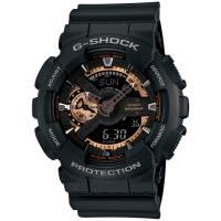 CASIO G-SHOCK 重機造型指針數位雙顯男錶-黑X古銅金(GA-110RG-1A)
