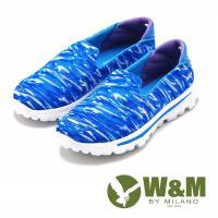 W&M MODARE系列 迷彩直套式休閒鞋 女鞋-藍(另有橘)