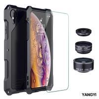 【YANG YI揚邑】Apple iPhone XR 鋁合金防摔防塵防水多重防護美拍鏡盔甲手機殼