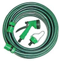手易坊 10M明綠水管組 附3接頭 4段水槍