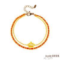 Jcode真愛密碼 真愛-小公主黃金小香編織手鍊-雙鍊款