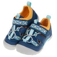 《布布童鞋》Moonstar日本藍色玩耍速乾兒童運動機能鞋(15~19公分) [ I9B315B ]