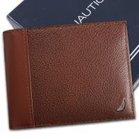 【Nautica】荔紋牛皮夾 多卡夾 獨立卡夾 品牌盒裝/棕色