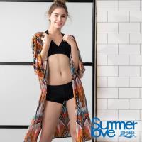 夏之戀SUMMERLOVE 大女比基尼/外搭罩衫三件式泳裝S19701