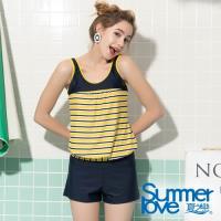 夏之戀SUMMERLOVE  大女長版三件式泳衣S19713