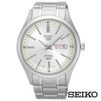 SEIKO精工   男神經典5號自動上鍊機械腕錶-銀x42.5mm SNKN85J1