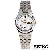 SEIKO精工   經典5號手自動上鍊機械女錶-白面+金x23.6mm SYMG73J1
