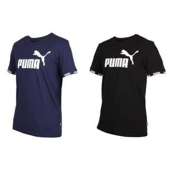 PUMA 男基本系列AMPLIFIED短袖T恤-短T 短袖上衣 慢跑