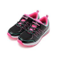 GOODYEAR 緩震半氣墊運動鞋 黑粉 GAKR88122 大童鞋 鞋全家福