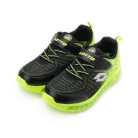 LOTTO GMAX 逐風者 彈力跑鞋 黑螢綠 LT9AKR0175 大童鞋 鞋全家福