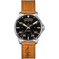 Hamilton 漢米爾頓 Khaki Pilot 卡其飛行員機械錶-黑x卡其色/42mm H64645531