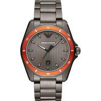 Emporio Armani 亞曼尼 都會時尚手錶-灰x橘圈/44mm AR11178