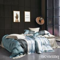 BEDDING-正60支天絲特大雙人八件式兩用被床罩組-尼蒂羅
