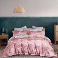 BEDDING-正60支天絲特大雙人八件式兩用被床罩組-索菲雅