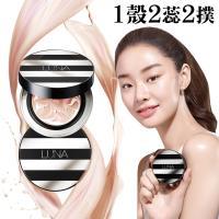 (即期品) 韓國LUNA 3in1三重水光爆水粉餅(粉盒X1+粉蕊12.5gX2+粉撲X2)