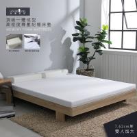 【House Door 好適家居】高密度防黴防蹣抗菌7.62cm厚記憶床墊保潔超值組-雙大6尺
