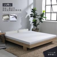 【House Door 好適家居】高密度防黴防蹣抗菌7.62cm厚記憶床墊保潔超值組-雙人5尺