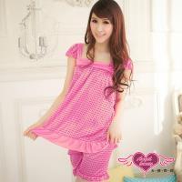 天使霓裳 俏甜變化 小圓點短袖二件式睡衣褲組(共三色F) UT11415