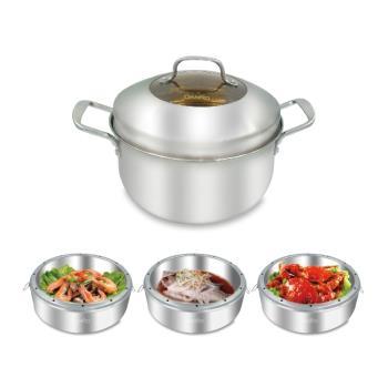 丹露DANRO多功能不鏽鋼蒸籠湯鍋組