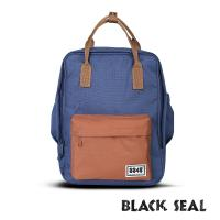 BLACK SEAL 聯名8848系列-多隔層休閒小方型後背包-星空藍 BS83008