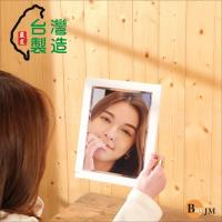 BuyJM 典雅實木長型桌鏡/化妝鏡/掛鏡
