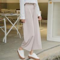 【WHATDAY】春季新款直筒九分休閒褲S-L(共兩色)