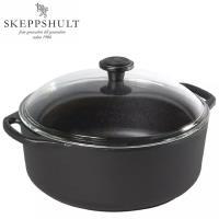 瑞典SKEPPSHULT 0310 鑄鐵圓形砂鍋 帶玻璃蓋 3公升