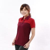 【遊遍天下】 MIT女款吸濕排汗抗UV機能POLO衫GS10035磚紅