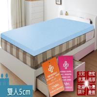 KOTAS  日本大和抗菌防蟎透氣5cm床墊-雙人(三色)