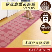 歐風廚房長踏墊(45x240cm)(紅色)