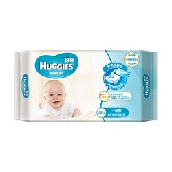 好奇 純水嬰兒濕巾一般型100抽x18包