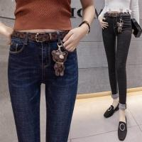 【WHATDAY】修長美腿時尚百搭牛仔褲S-2XL(共二色)