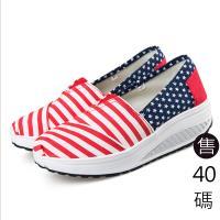 Alice 學院紅白條控星星健走鞋