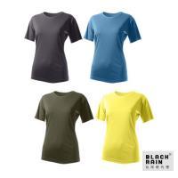 【Black Rain】女圓領短袖休閒衫 BR-112011 (四色)