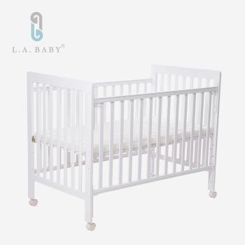 【 L.A. Baby】密西根三合一嬰兒大床(白色)