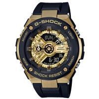【CASIO 卡西歐】G-STEEL雙層結構能強化腕錶(GST-400G-1A9)