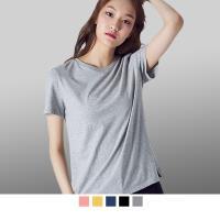 【男人幫】SL035*快速出貨-圓領亞麻棉彈性素面T恤