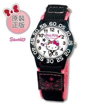 【SANRIO 三麗鷗】自黏帶 數字學習兒童手錶 - Hello Kitty 個性凱蒂