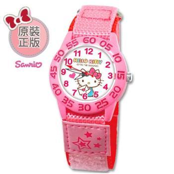 【SANRIO 三麗鷗】自黏帶 數字學習兒童手錶 - Hello Kitty 情書凱蒂