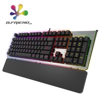 【B.Friend】MK9A 有線 RGB 青軸機械鍵盤 鋁質面板
