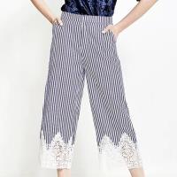 韓國K.W. 樂活舒適蕾絲氣質直筒褲