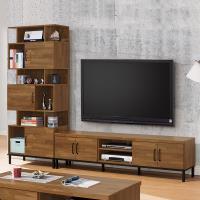 【時尚屋】[MX9]伊萊8.6尺L型電視櫃MX9-001+004免運費/免組裝/電視櫃