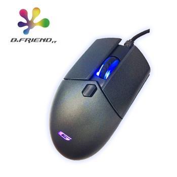 【B.Friend】GM3 有線七色背光電競滑鼠 遊戲滑鼠 電腦滑鼠 (銀黑色)