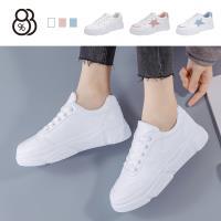 【88%】休閒鞋-側邊星星 馬卡龍色系 皮質清新休閒 布鞋 小白鞋 休閒鞋
