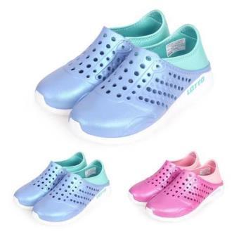 LOTTO 男女中童潮流洞洞鞋-海邊 排水 水陸鞋 懶人鞋 走路鞋 輕便鞋