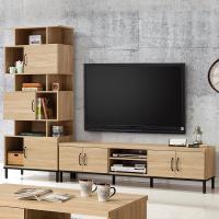 【時尚屋】[MX9]波頓8.6尺L型電視櫃MX9-012+015免運費/免組裝/電視櫃