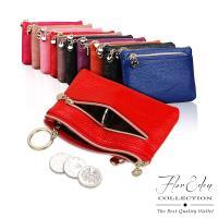 DF Flor Eden皮夾 - 歐美時尚款真皮鑰匙多功能小巧錢包-共4色